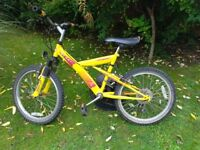 10 Speed Mountain Bike with Front Suspension, Good Brakes & Tyres. Suit 7 to 11 year old.