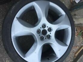 Jaguar XF xfs alloy wheel 20inch 09-12 with Dunlop sp maxtyre