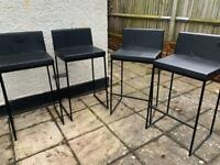 Ragnars w5 black bar stools x4