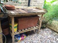 Garden Wooden Workbench (used)