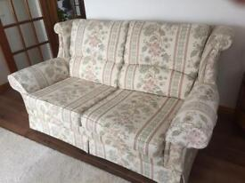 Wade comfortable two seater couch, immaculate beautiful condition, great for a conservatory-in Elgin
