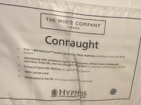 The White Company Mattress 150CM - moving house ! Bought for over £1000+