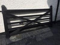 Paddock Driveway Gate, black