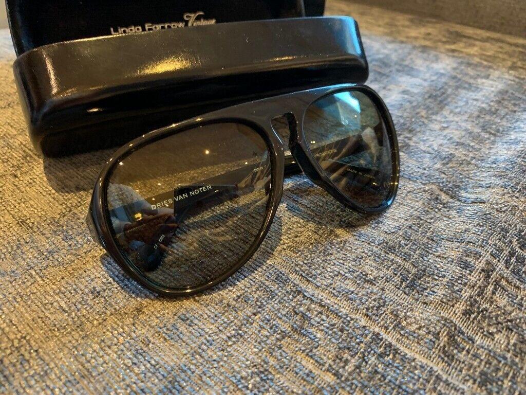9abc5ee5e6f1 Dries van Noten black aviator sunglasses (Linda Farrow collaborations)