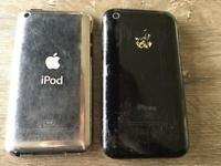 Two iPod touch phones both 8GB, no chargers.