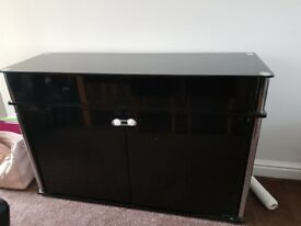 Hygena Black glass sideboards + tv stand