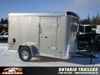 2015 Stealth Trailers 6x10 Round Top single axle / Metallic Pewt