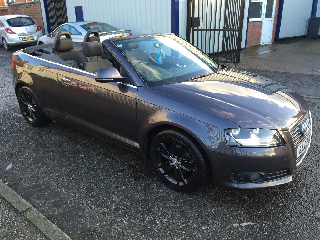 audi a3 cabriolet sport 2009 79k 1 owner 7 services cambelt change 12 mnth mot beautiful. Black Bedroom Furniture Sets. Home Design Ideas