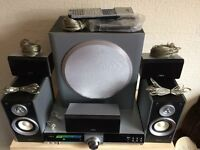 AIVA CX-VX55 DVD 5.1 CINEMA SYSTEM, BUILT IN KARAOKE & DIGITAL RADIO, AUX INPUTS ETC, FULL WORKING.