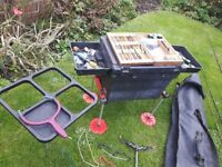 Fishing tackle, rods reels poles box