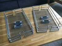 Howdens/Hafele Wire Baskets for 300mm Pull-out Cupboard