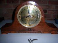 Large Oak Mantel Clock