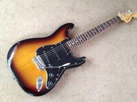 Fender Stratocaster Sunburst with tremolo arm supplied in lightweight case