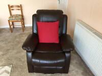 Electric recliner chair.