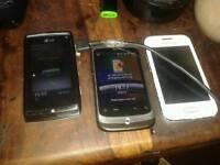 X 3 phones