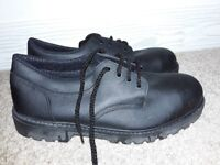 New, black steel toe capped safety shoes, Size 6, £10