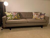 Stunning Mid-Century Modern Style 3-Seater Sofa
