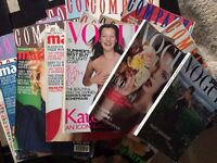 Bundle of Vintage Magazines great for resale! Approx 70 Vogue, Elle, Marie Claire and Company