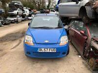 BREAKING Chevrolet Matiz S 0.8 Blue door bumper wing window glass front rear offside nearside