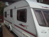 coachman amara fixed bed 2005 excellent condition includes awning must see