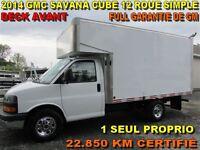 2014 GMC Savana 3500 CUBE 12 PIEDS 22.850 KM DECK AVANT