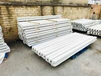 ⭐️excellent quality⭐️ 7ft reinforced concrete fence posts / slotted posts