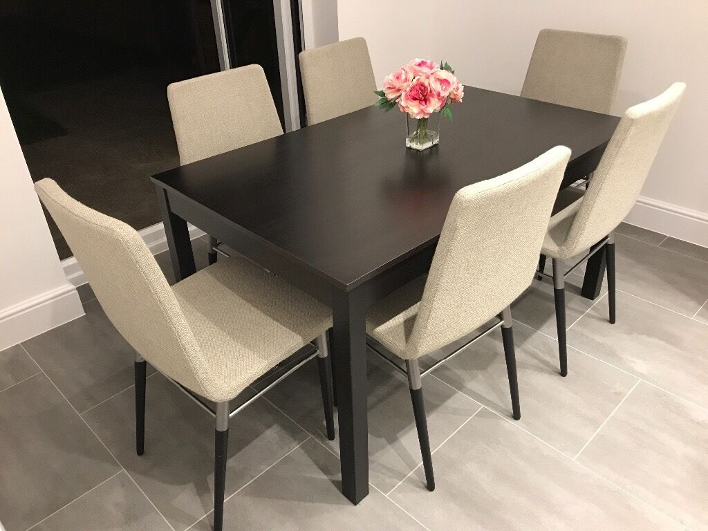 Ikea Preben Chairs X 6 With Bjursnas Dining Table In