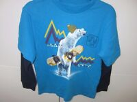 Boys Age 6-7 Gap Long Sleeved Winter Themed Top