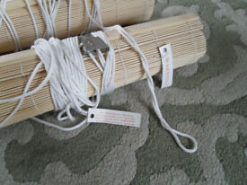 2 BAMBOO BLINDS NEW 3 FOOT X 6 FOOT