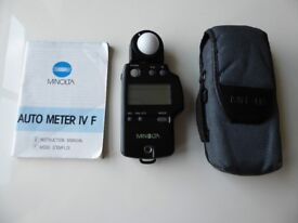 Minolta Auto Light meter IV F for sale