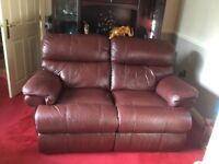 sofa settee couch leather