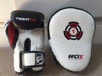 RDX kids boxing gloves and focus pad