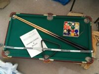 Table top Billiards Snooker table