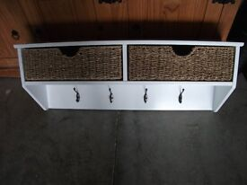 Coat Rack / Hooks with Storage and fittings - Like New