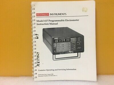 Keithley Instruments 617-901-01 617 Programmable Electrometer Instruction Manual