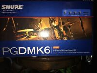 PGDMK6 SHURE DRUM MIC SET-BRAND NEW