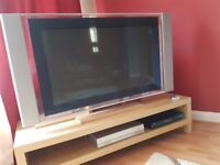 42 inch Sony plasma TV, with integrated Freeview, wall bracket and bespoke table mount - £200