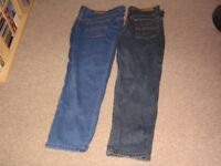 two pairs of union blues jeans
