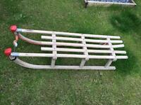 Vintage wooden sleigh / sledge