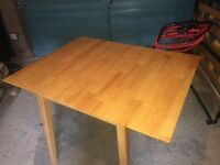 Small pine drop leaf dining/side table