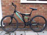 Silverfox mountain bike with full suspension.