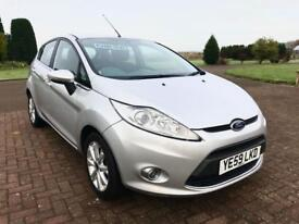FORD FIESTA 1.4 ZETEC TDCI 5d 68 BHP *FULL LEATHER, DIESEL* (silver) 2010