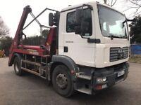 Skip truck Loader, Skip Lorry, Hyva Equipment