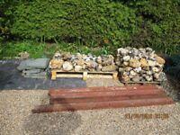 Large flint stones suitable for rockeries or decorative walls