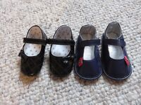 Baby Shoes 2 Pairs Sizes 3 & 4, respectively