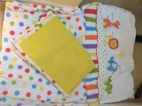 Cot bedding & matching mobile