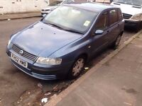 FIAT STILO 1.3 BLUE 5 DOOR 2003 £300