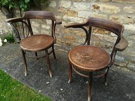Pair of Fischer bentwood chairs