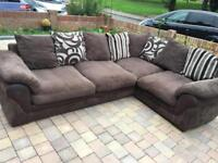 DFS brown jumbo cord large corner sofa+delivery available