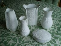 5 Pieces of Beautiful White Kaiser Porcelain